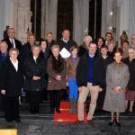 2011-12-03 Aartsbisschop Leonard op bezoek: Sacramentstoren kerk, Zuurbemde)